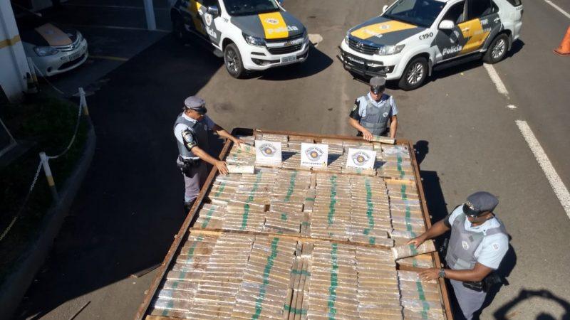 TOR apreende caminhão carregado de maconha na Rondon