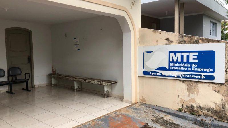 Agência do Ministério do Trabalho é fechada em Mirandópolis