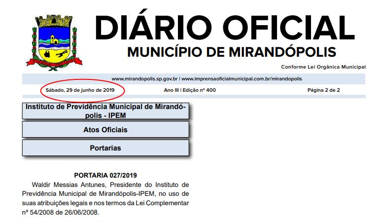 Prefeitura contraria decreto e publica Diário Oficial em um sábado