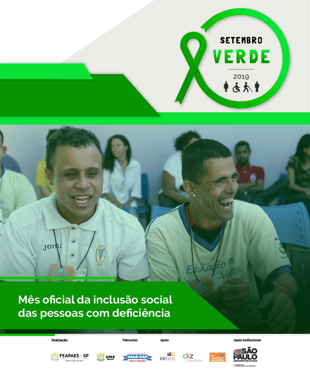 Setembro Verde: Apae celebra mês da inclusão da pessoa com deficiência intelectual e múltipla