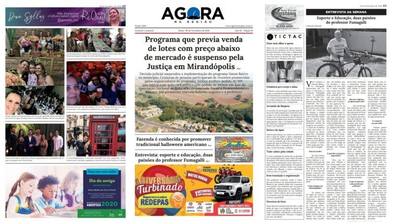 Edição 19 (08/11) do AGORA NA REGIÃO já está disponível gratuitamente nos pontos de distribuição