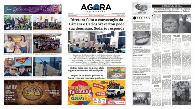 Edição 21 (22/11) do AGORA NA REGIÃO está disponível gratuitamente nos pontos de distribuição