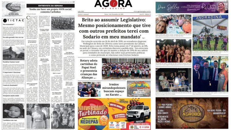 Edição 23 (06/12) do AGORA NA REGIÃO está disponível gratuitamente nos pontos de distribuição