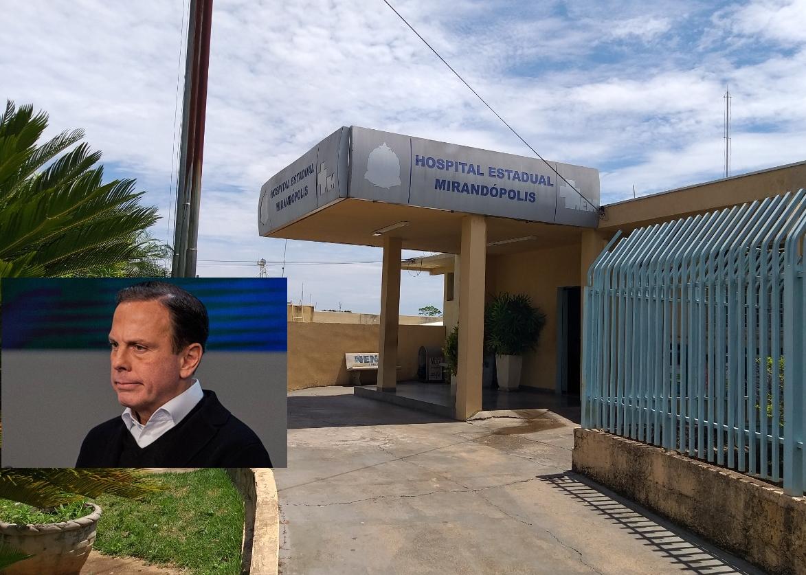 MP de Mirandópolis aciona Estado e governador João Doria por falta de médicos no hospital