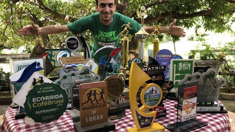 Mirandopolense Marcos Hidalgo supera marca de 14 vitórias e 52 troféus em corridas de rua