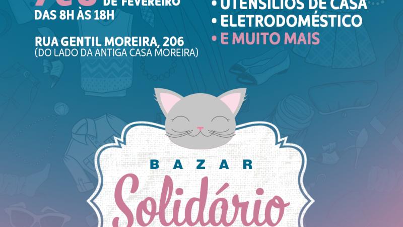 Gateiras do Brasil realiza bazar solidário em prol dos animais