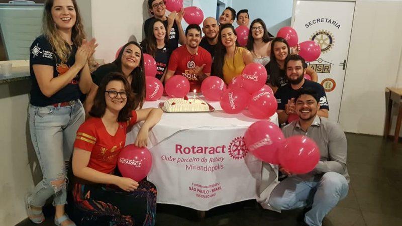 Rotaract de Mirandópolis prepara evento em comemoração à fundação do clube