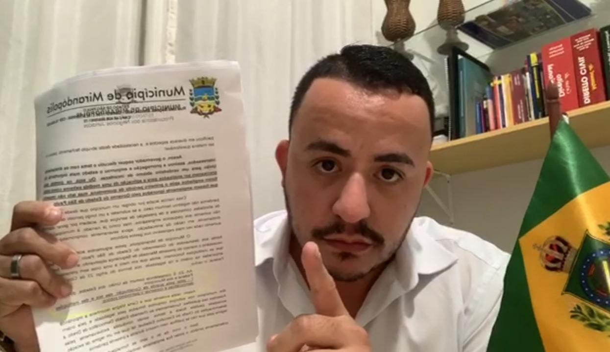 Exclusivo: Promotoria recomenda que Sodario pare com manifestações contrárias ao combate do coronavírus na internet