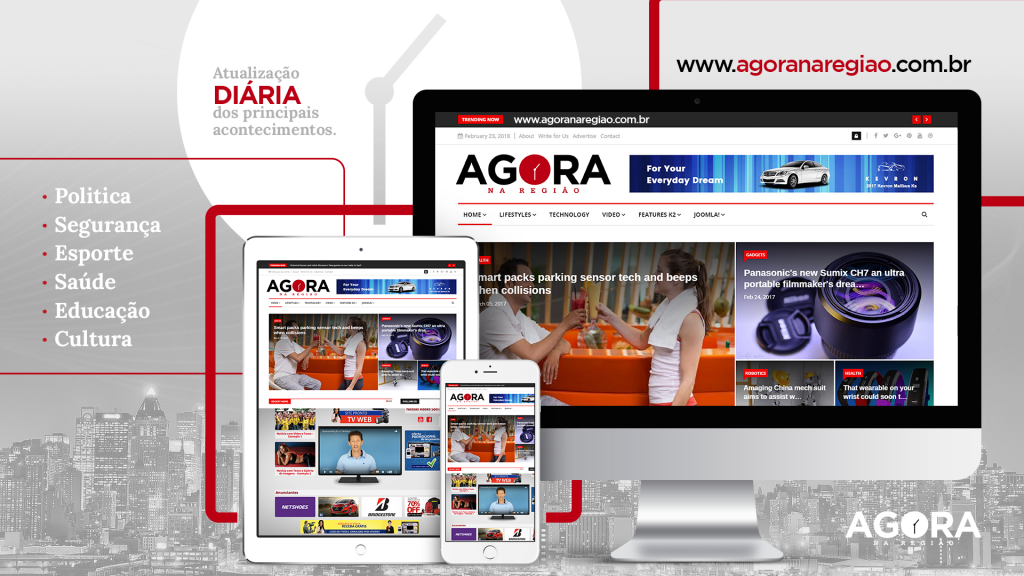 Site AGORA NA REGIÃO completa 1 ano com mais de 300 mil visualizações