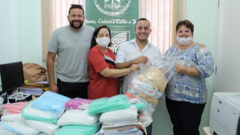 Faesp, Senar e Sirum confeccionam 10 mil máscaras e realizam doações para combate ao covid-19