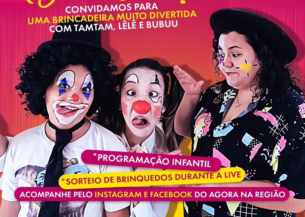 AGORA NA REGIÃO realiza live 'Vamos Brincar?' no sábado (23) para interagir com as crianças durante quarentena