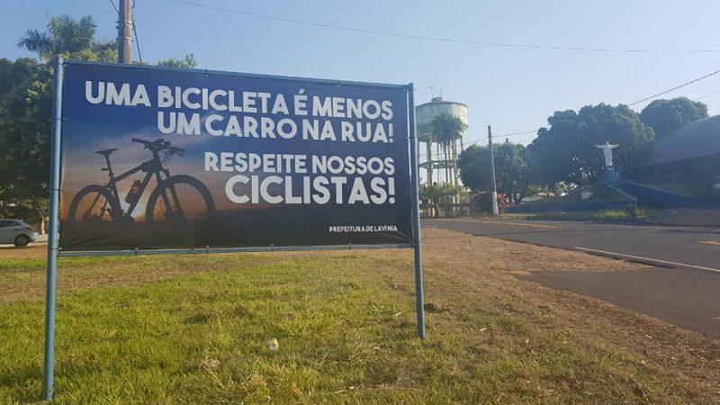 Equipe Pedale monta projeto destacando importância do respeito aos ciclistas no trânsito