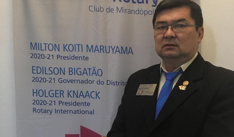 'Abrimos oportunidades ajudando pessoas e entidades', define Milton Koiti, presidente do Rotary em Mirandópolis
