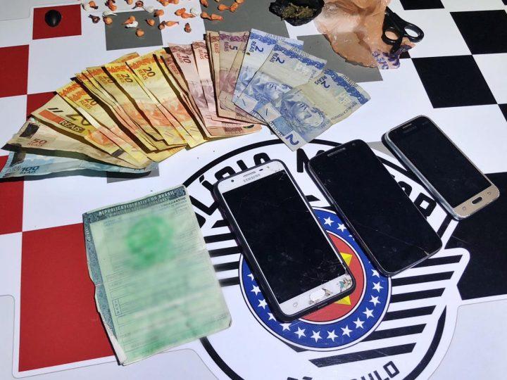 Casal é preso com porções de droga no São Lourenço de Fátima