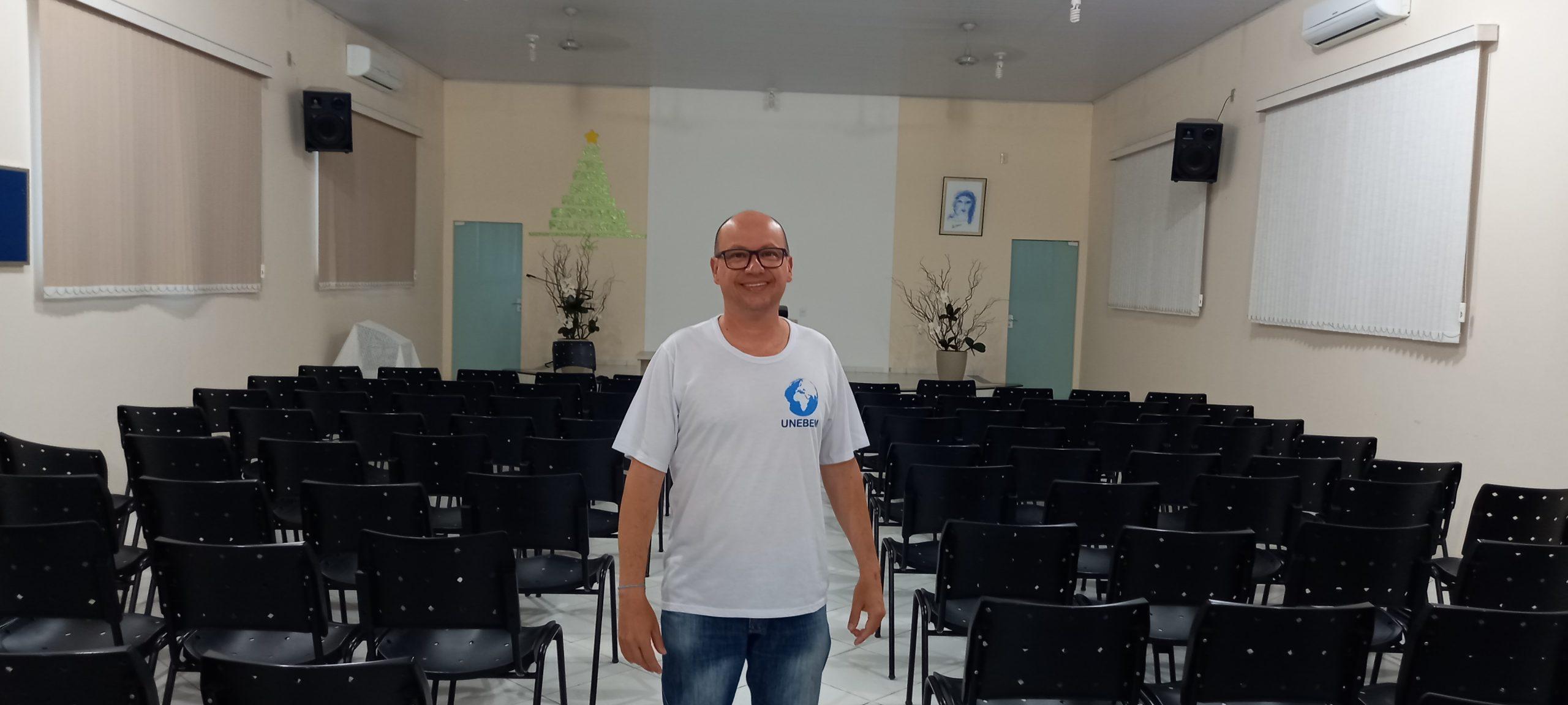 'Tive experiências transformadoras que me trouxeram para o Centro', lembra Rogerio Bezerra, presidente do Unebem