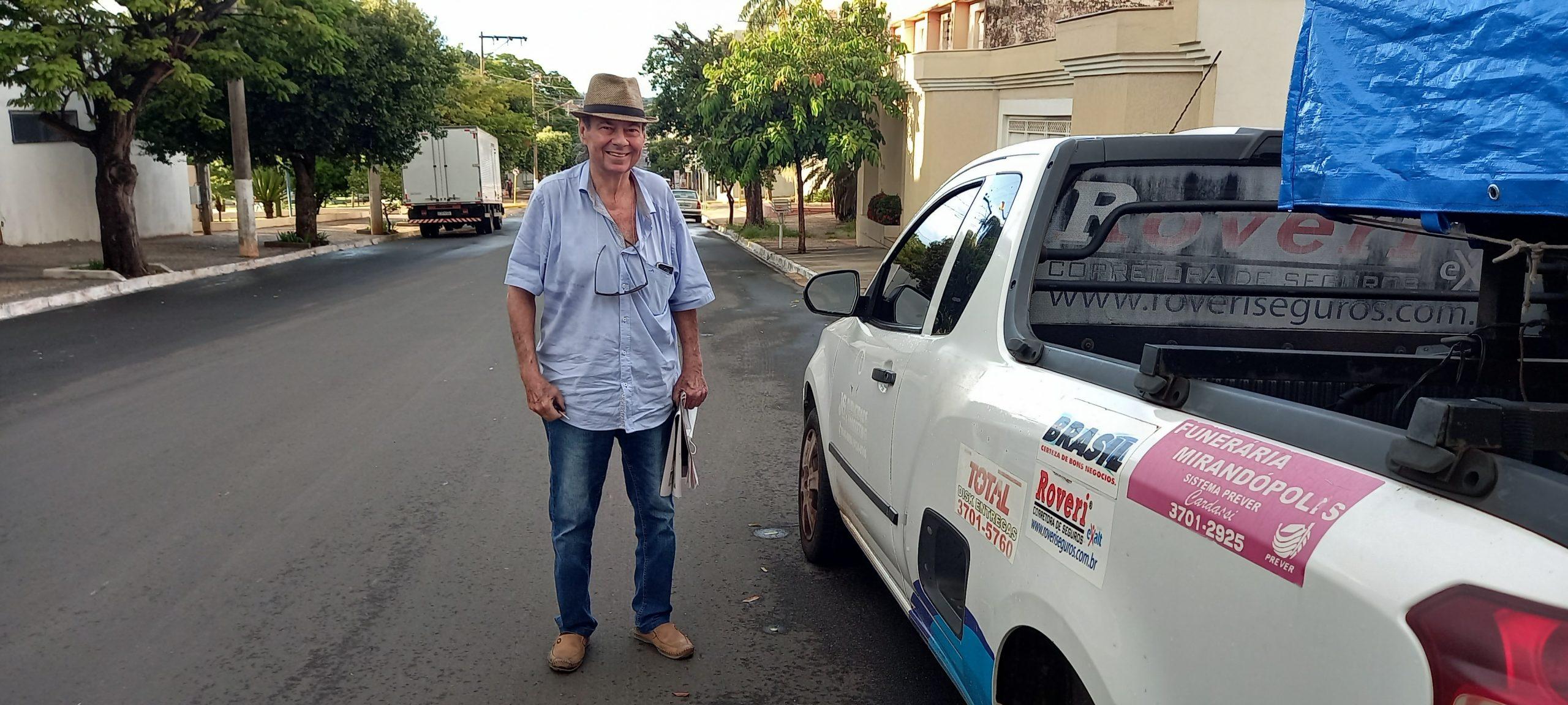 'Tenho muitas histórias vividas e algumas outras ainda por viver em Mirandópolis', ressalta João Geraldo