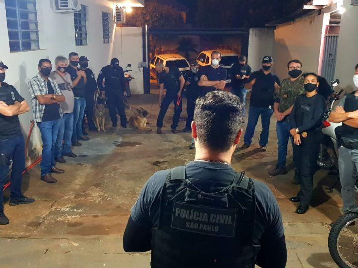 'Operação Delivery' em Lavínia prende seis pessoas em flagrante por tráfico de drogas