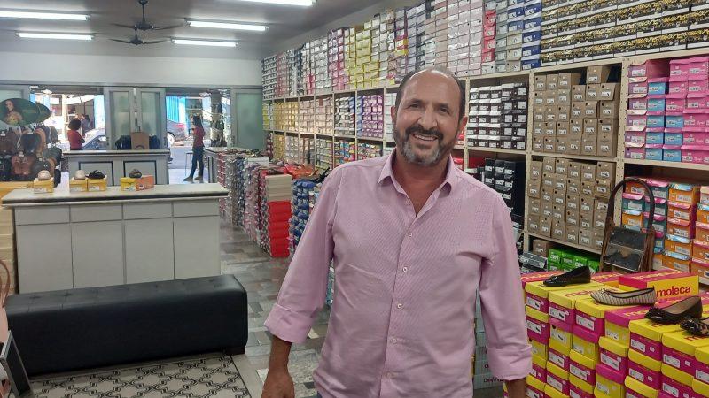 'Sou apaixonado pelo comércio, minha paixão sempre foi vender', lembra Marcos Franco