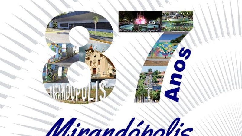 Prefeitura divulga calendário de festividades do aniversário de Mirandópolis