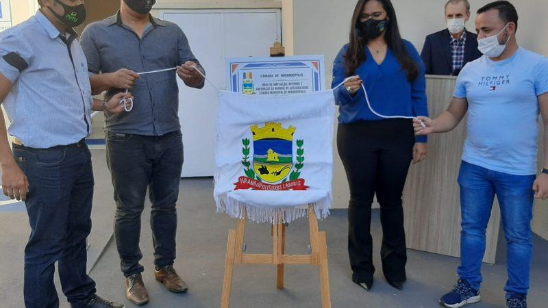 Poder Legislativo inaugura obra de acessibilidade e instalação de elevador na Câmara de Mirandópolis