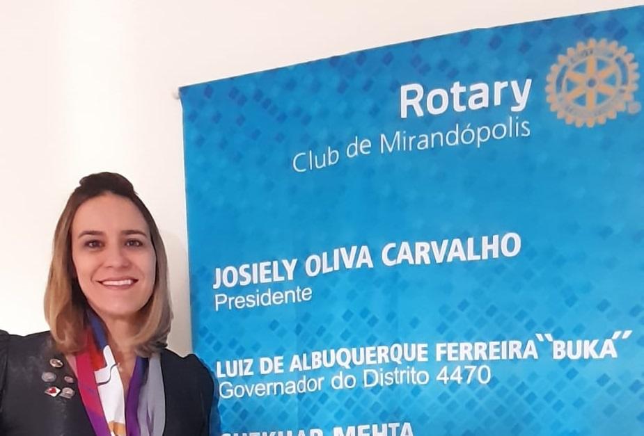 Em evento online, nova diretoria do Rotary Club de Mirandópolis toma posse